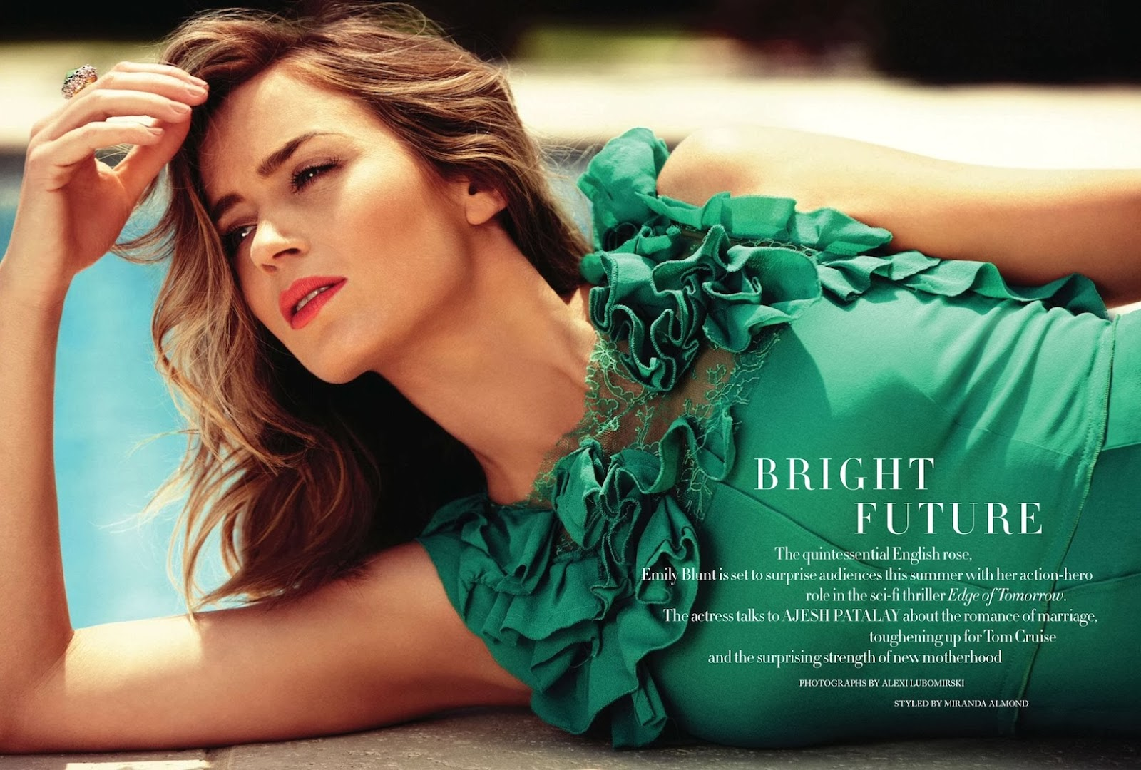 Emily Blunt Harper's Bazaar