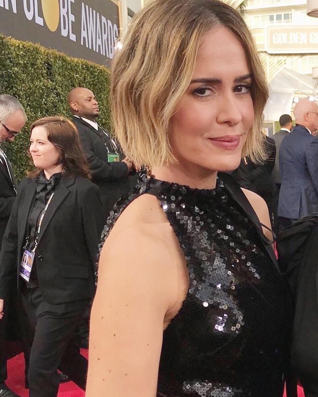 Sarah Paulson Golden Globes 2018