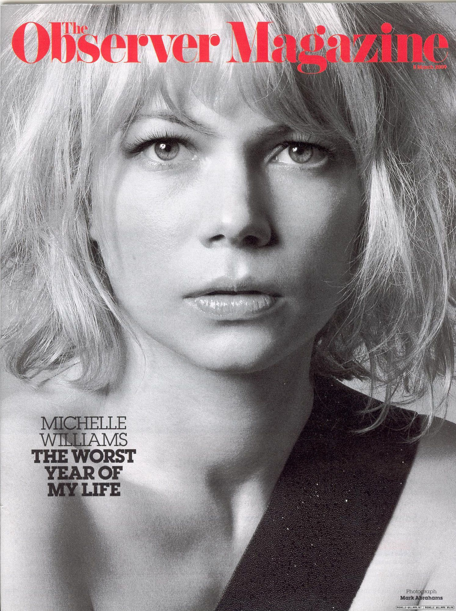 Michelle Williams: The Observer Magazine