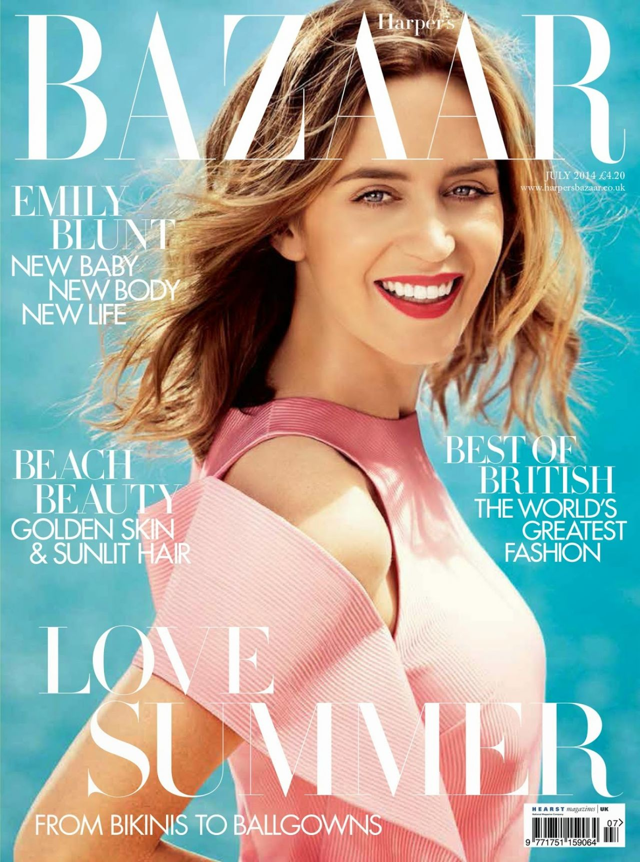 Emily Blunt: Harpers Bazaar Magazine UK July 2014