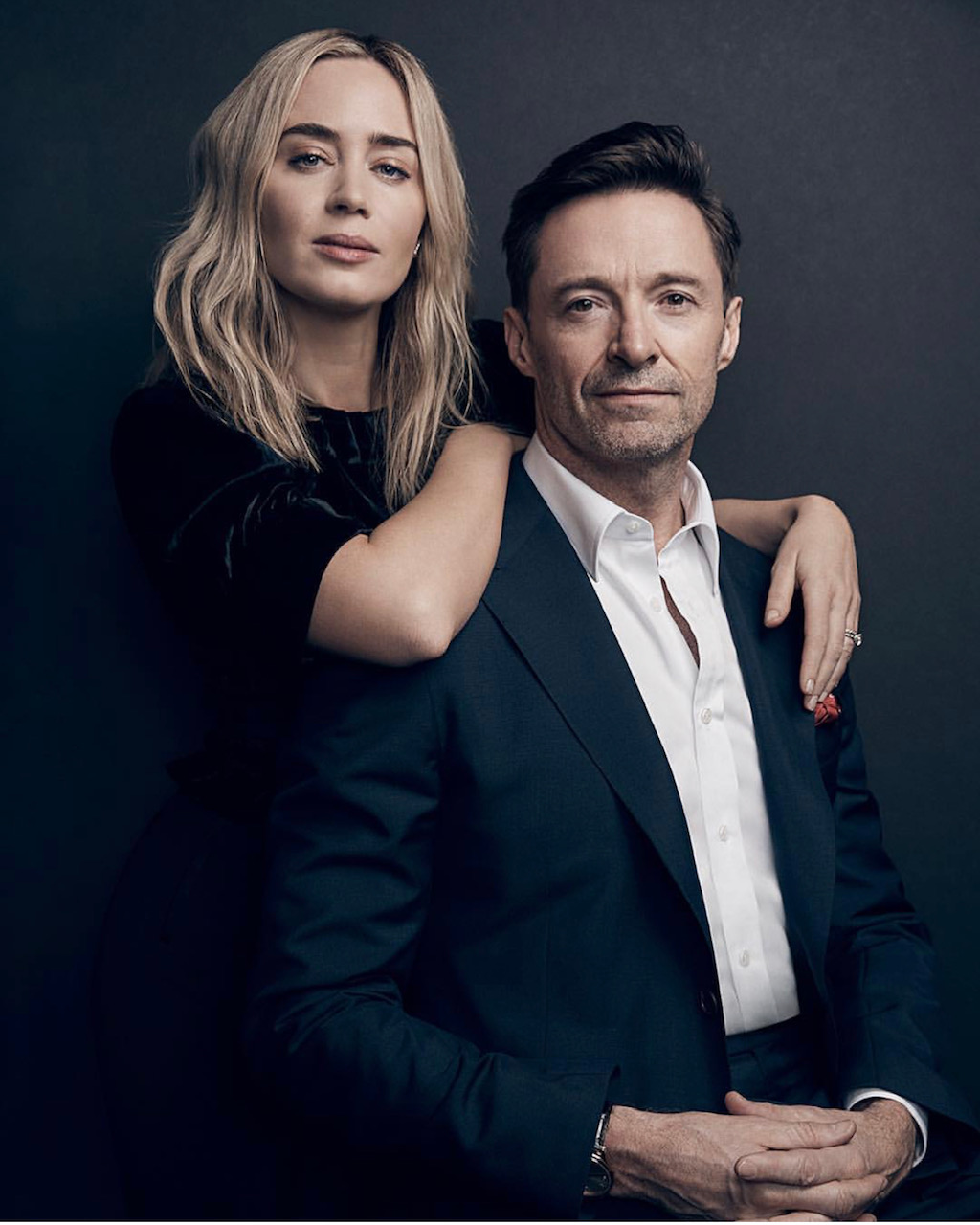 Emily Blunt + Hugh Jackman at Variety Magazine's Actors on Actors