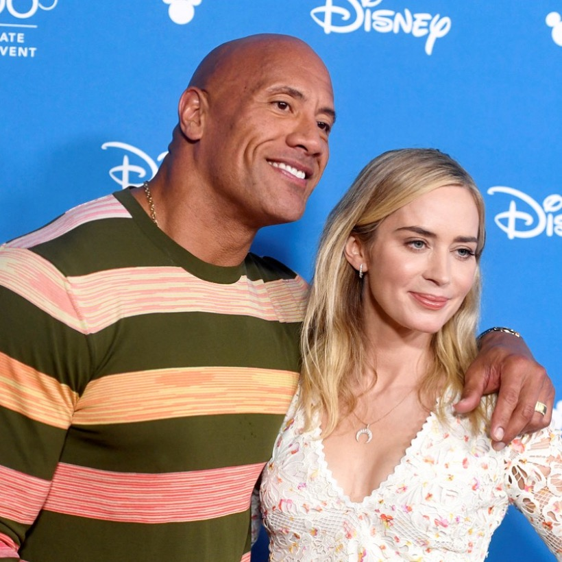 Emily Blunt + The Rock at D23 Expo for Jungle Cruise