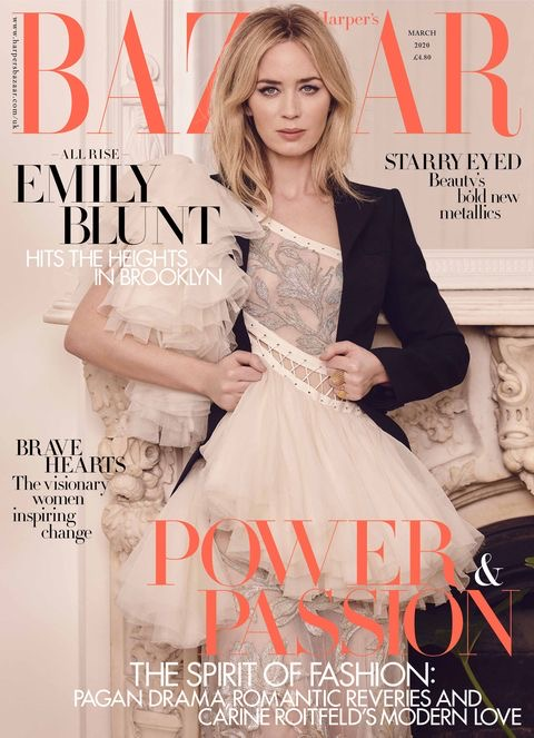 Emily Blunt x Harpers Bazaar UK, March Cover 2020