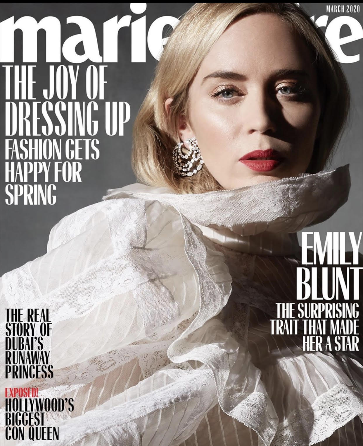 Emily Blunt x Marie Claire – March Cover 2020
